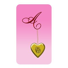 A Golden Rose Heart Locket Memory Card Reader (rectangular) by cherestreasures
