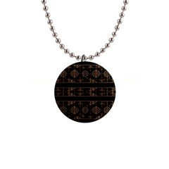 Dark Geometric Abstract Pattern Button Necklace by dflcprints