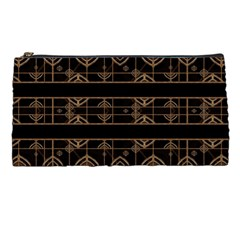 Dark Geometric Abstract Pattern Pencil Case by dflcprints