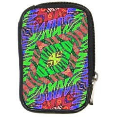 Zebra Print Abstract  Compact Camera Leather Case by OCDesignss