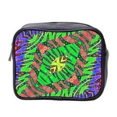 Zebra Print Abstract  Mini Travel Toiletry Bag (two Sides) by OCDesignss