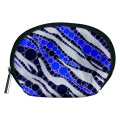 Blue Zebra Bling  Accessory Pouch (Medium) by OCDesignss