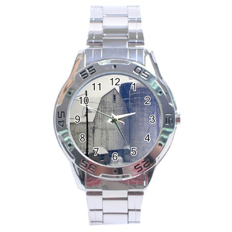 By Mary Freeman   Stainless Steel Analogue Watch   79igc4ktji5o   Www Artscow Com Front