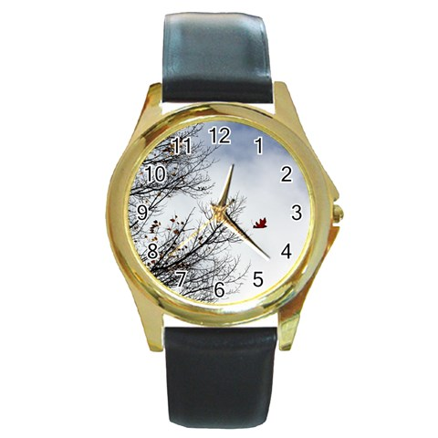 By Mary Freeman   Round Gold Metal Watch   6ov1a9jmtwxj   Www Artscow Com Front