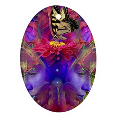Journey Home Oval Ornament (two Sides) by icarusismartdesigns