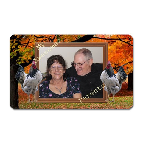 Rooster Magnet By Kim Blair   Magnet (rectangular)   Kvo01jxfdso4   Www Artscow Com Front