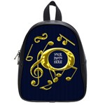 Golden Musical Note School Bag Small - School Bag (Small)