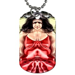 Cubist Woman Dog Tag (two Sided)  by icarusismartdesigns