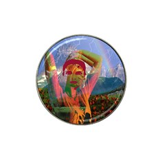 Fusion With The Landscape Golf Ball Marker (for Hat Clip) by icarusismartdesigns