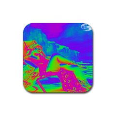 Seaside Holiday Drink Coaster (square) by icarusismartdesigns