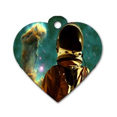 Lost In The Starmaker Dog Tag Heart (two Sided) by icarusismartdesigns