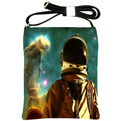 Lost In The Starmaker Shoulder Sling Bag by icarusismartdesigns