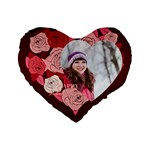 love - Standard 16  Premium Flano Heart Shape Cushion