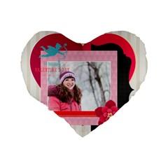 Love By Ki Ki   Standard 16  Premium Flano Heart Shape Cushion    Qnnfo0zbs1cn   Www Artscow Com Back