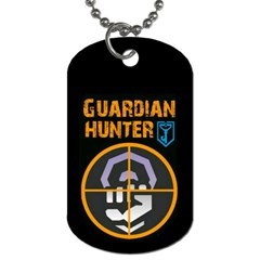 Ingress Guardian Hunter Tags By Corey Peoples   Dog Tag (two Sides)   U2ygk9oo6fsq   Www Artscow Com Front