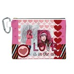 love - Canvas Cosmetic Bag (Large)
