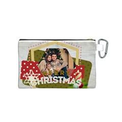 Xmas By Xmas   Canvas Cosmetic Bag (small)   7e7cabwjli4u   Www Artscow Com Back