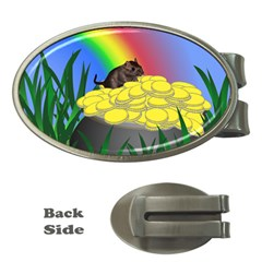 Pot Of Gold With Gerbil Money Clip (Oval) by designedwithtlc