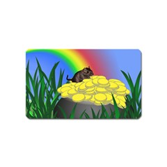 Pot Of Gold With Gerbil Magnet (Name Card) by designedwithtlc