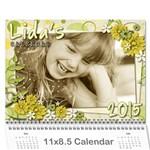 lIDAS CALENDAR - Wall Calendar 11  x 8.5  (12-Months)