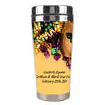 mardi gras 3 - Stainless Steel Travel Tumbler