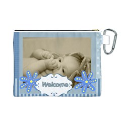 Baby By Baby   Canvas Cosmetic Bag (large)   P0ynvd95rd4k   Www Artscow Com Back