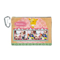 Kids By Kids   Canvas Cosmetic Bag (medium)   4qjw3ulkktvm   Www Artscow Com Front