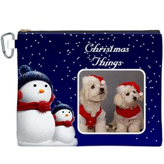 Christmas Things Canvas Cosmetic Bag (xxxl) By Deborah   Canvas Cosmetic Bag (xxxl)   Olg17pqxfwd9   Www Artscow Com Front