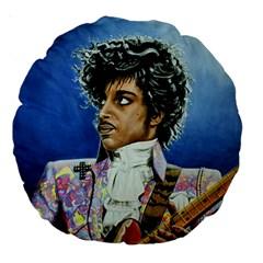 His Royal Purpleness 18  Premium Round Cushion  by retz