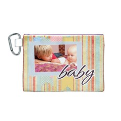 Baby By Baby   Canvas Cosmetic Bag (medium)   06wc5njwkys5   Www Artscow Com Front