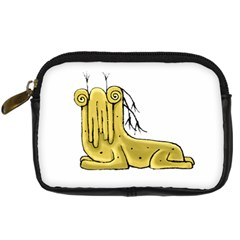 Fantasy Cute Monster Character 2 Digital Camera Leather Case by dflcprints