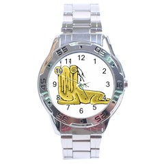 Fantasy Cute Monster Character 2 Stainless Steel Watch by dflcprints