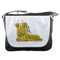 Fantasy Cute Monster Character 2 Messenger Bag by dflcprints