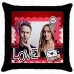 love - Throw Pillow Case (Black)