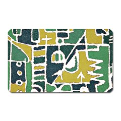 Colorful Tribal Abstract Pattern Magnet (rectangular) by dflcprints