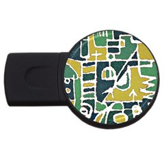 Colorful Tribal Abstract Pattern 2gb Usb Flash Drive (round) by dflcprints