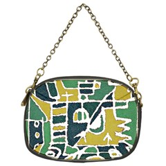 Colorful Tribal Abstract Pattern Chain Purse (two Sided)  by dflcprints