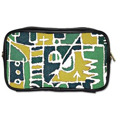Colorful Tribal Abstract Pattern Travel Toiletry Bag (two Sides) by dflcprints