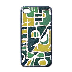 Colorful Tribal Abstract Pattern Apple Iphone 4 Case (black) by dflcprints