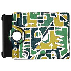 Colorful Tribal Abstract Pattern Kindle Fire Hd Flip 360 Case by dflcprints