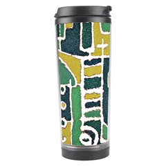 Colorful Tribal Abstract Pattern Travel Tumbler by dflcprints