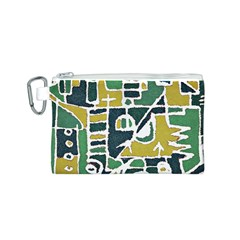 Colorful Tribal Abstract Pattern Canvas Cosmetic Bag (Small)