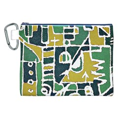 Colorful Tribal Abstract Pattern Canvas Cosmetic Bag (xxl) by dflcprints