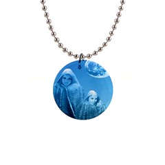 Full Moon Rising Button Necklace by icarusismartdesigns