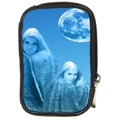 Full Moon Rising Compact Camera Leather Case by icarusismartdesigns