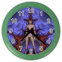 Chaos Wall Clock (color) by icarusismartdesigns