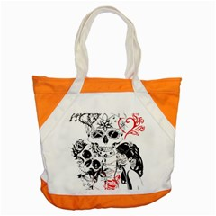 Skull Love Affair Accent Tote Bag by vividaudacity