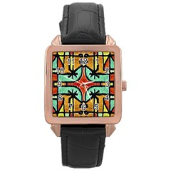 Lap Rose Gold Leather Watch  by dflcprints