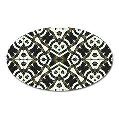 Abstract Geometric Modern Pattern  Magnet (oval) by dflcprints