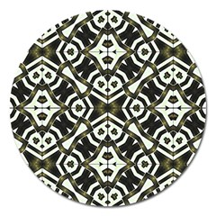 Abstract Geometric Modern Pattern  Magnet 5  (round) by dflcprints